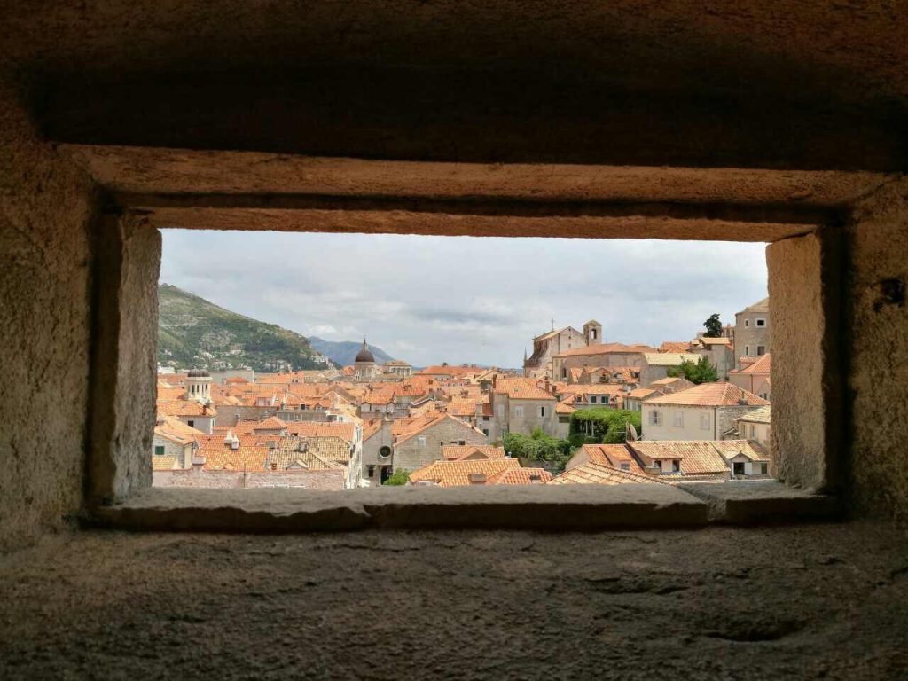 Roofs of buildings in the old town of Dubrovnik, Croatia