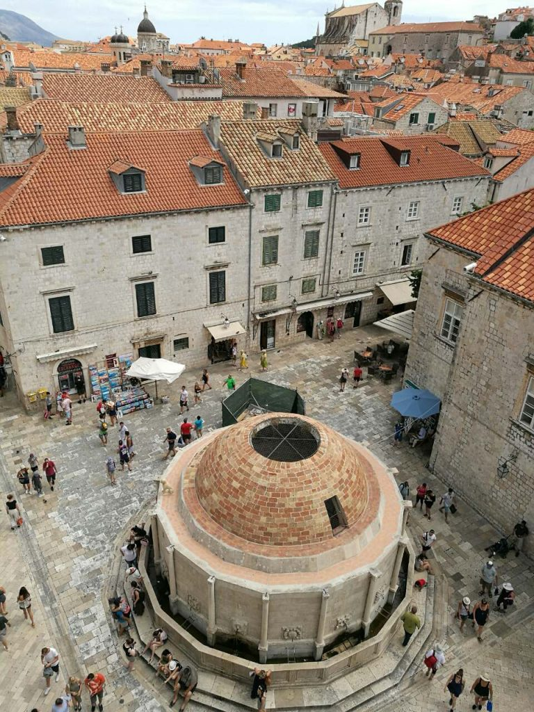 Mediterranean buildings in the center of Dubrovnik