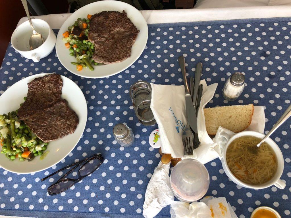 Lunch meals on board on Jadroloniha's 51 line Ancona - Zadar