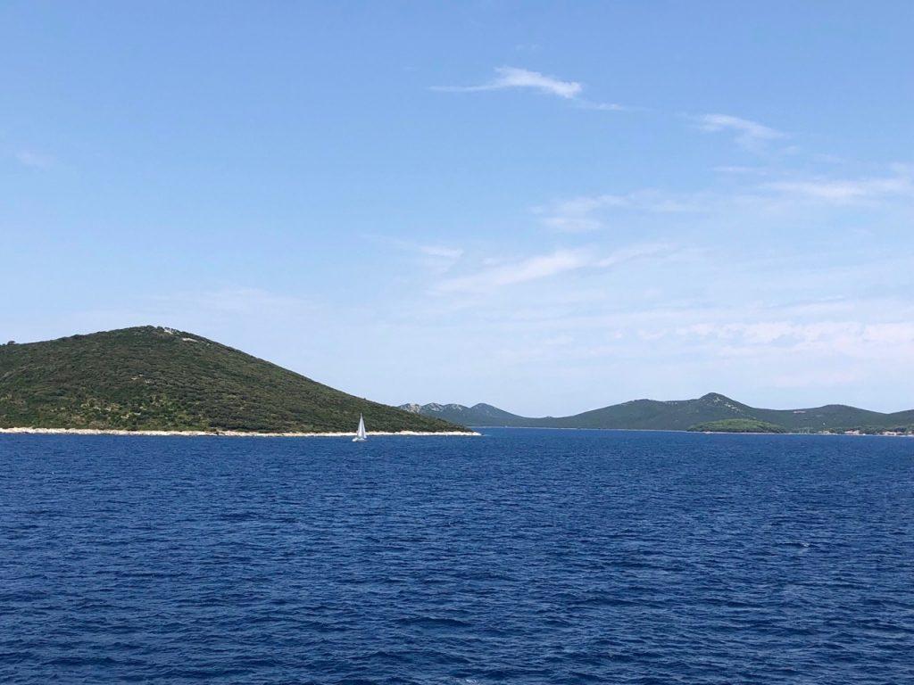 Boat sailing in Kornati National Park