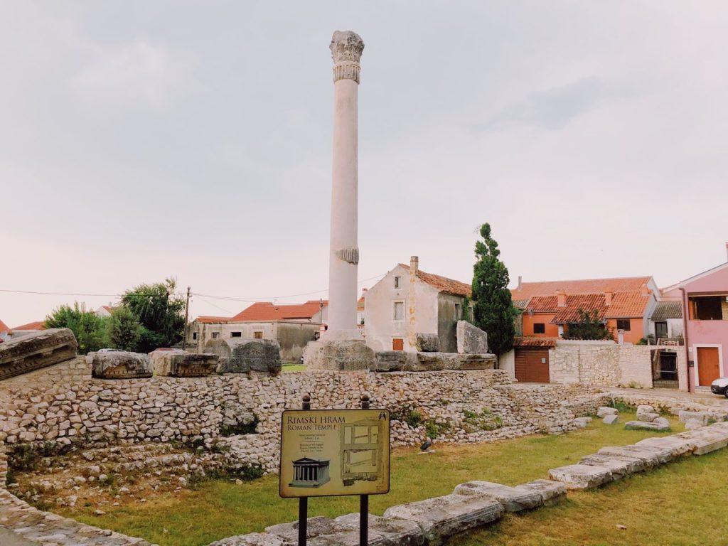 Remains of a Roman temple in Nin, Croatia