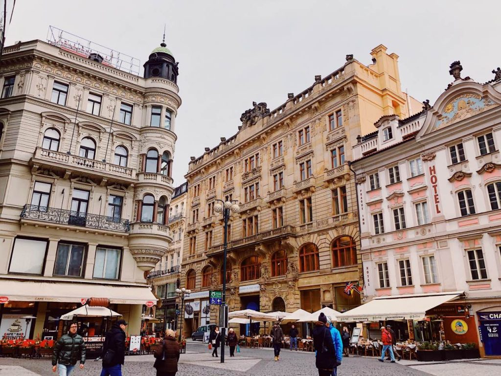 Buildings in the old town of Prague