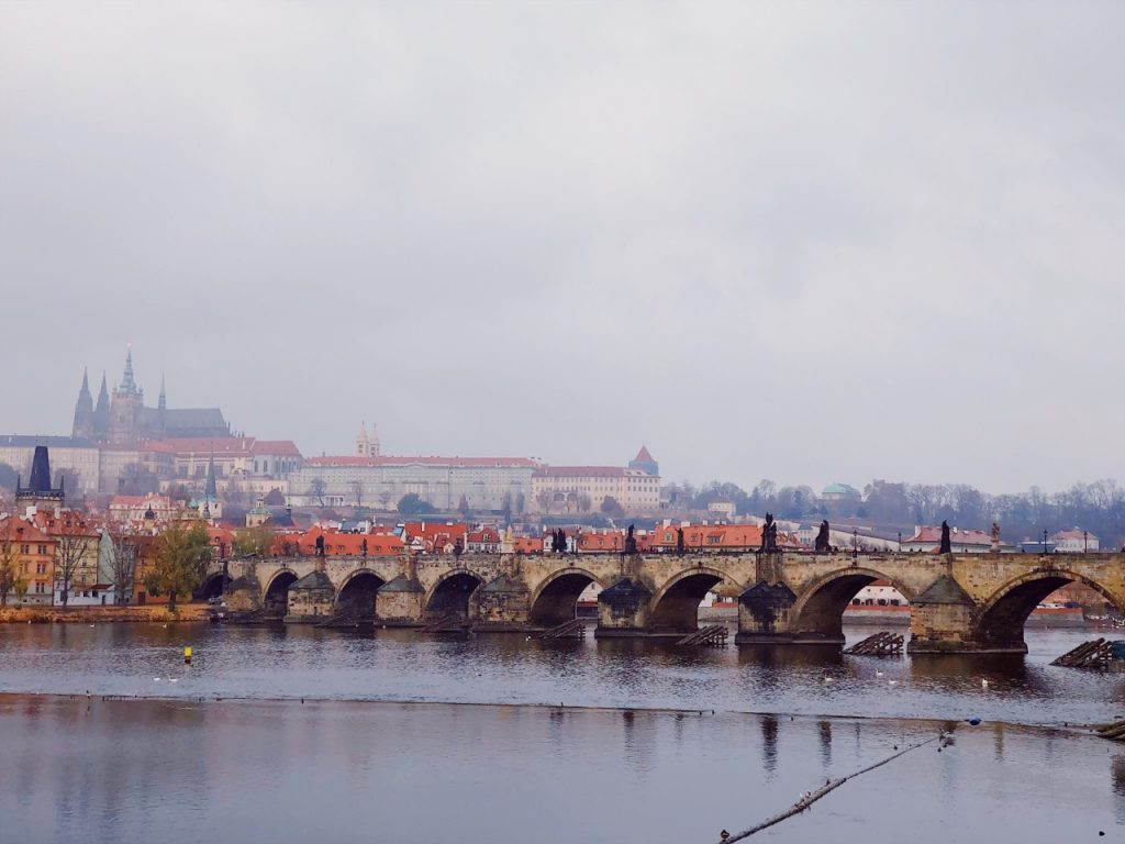 Charles bridge in Prague in November
