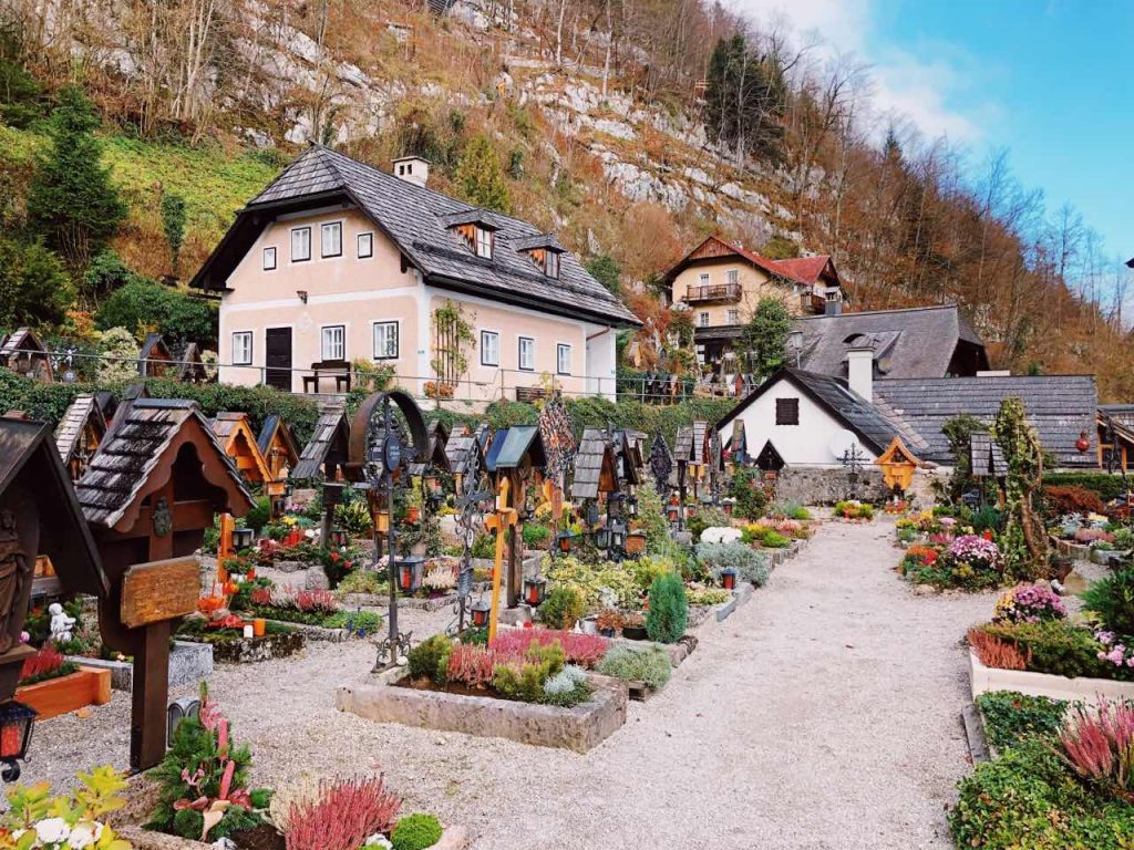 The cemetery at St. Michael's Chapel in Hallstatt