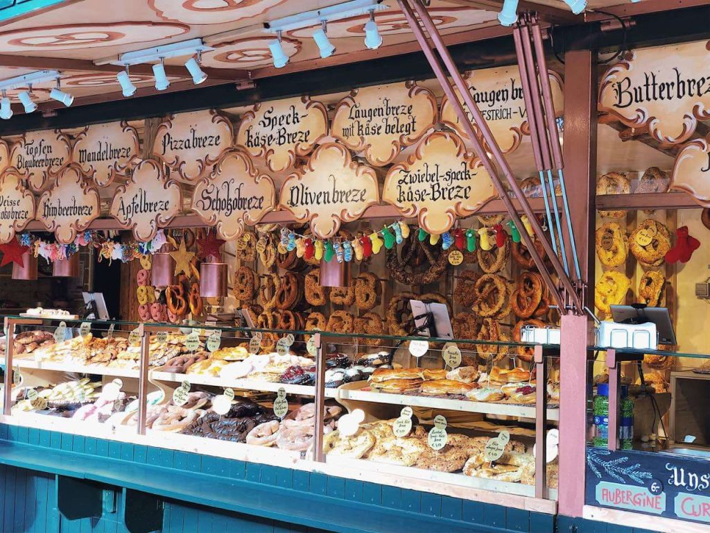 Yummy treats at the Christmas market in Salzburg