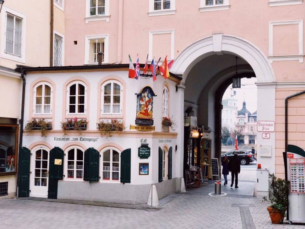 Getreidegasse - typical Salzburg street in the center