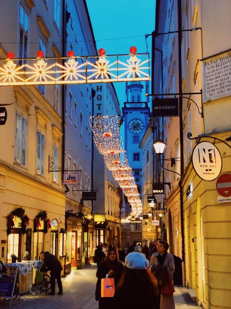 Salzburg in Austria before Christmas