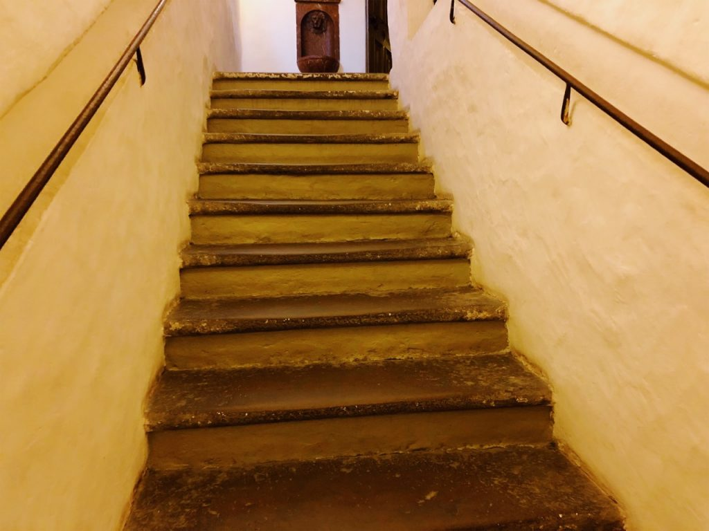 The stairs at Mozart's birth house in Salzburg