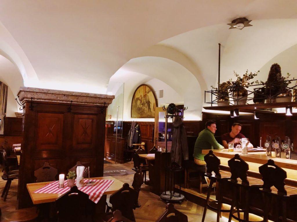 Sternbrau in Salzburg from inside