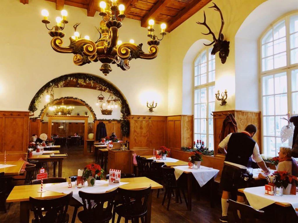 Inside Stieglkeller in Salzburg, Austria