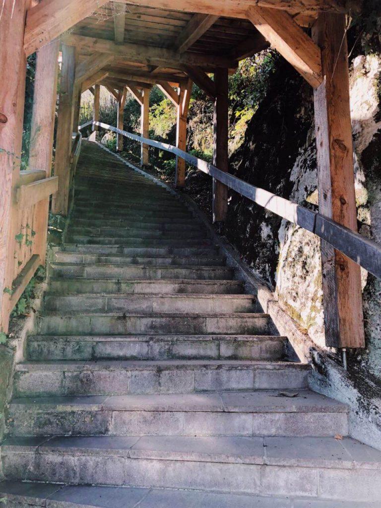 stairs in Hallstatt, Austria