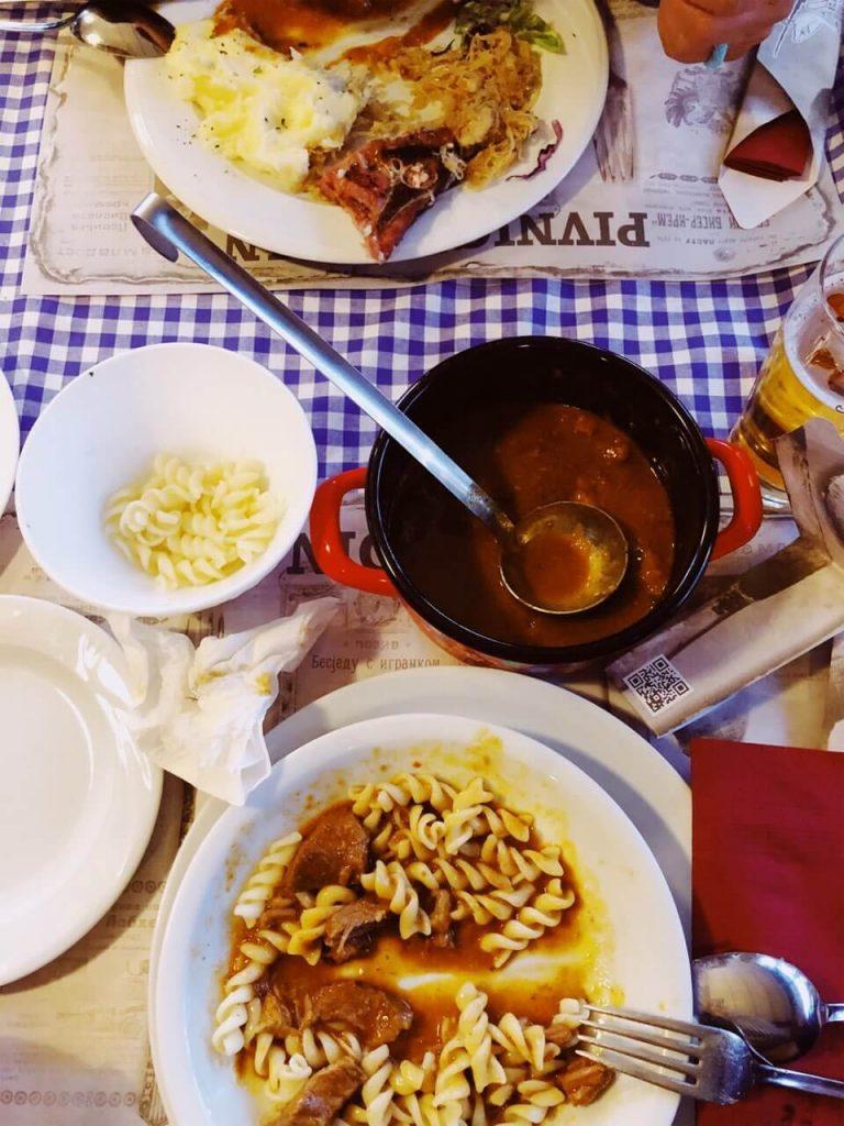 Meals at Pivnica Gusan in Novi Sad