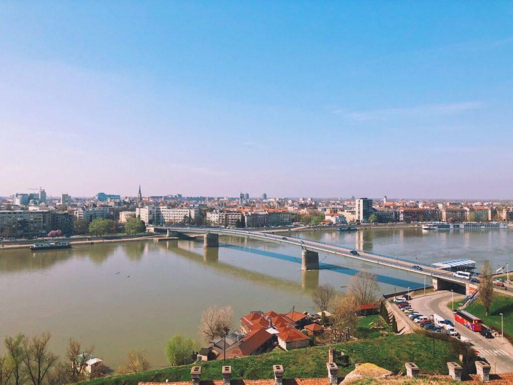 Late March view over the Danube in Novi Sad