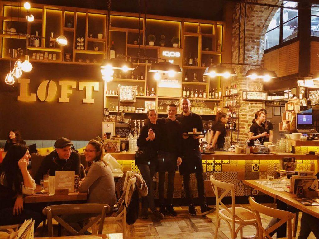 Waiters posing at Loft in Novi Sad