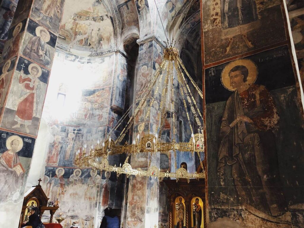 Inside the monastery church in Novo Hopovo