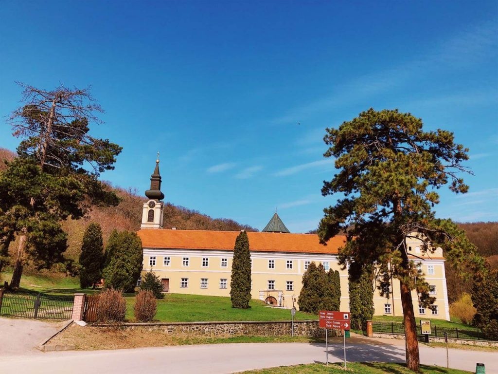 The monastery in Novo Hopovo in Fruska gora