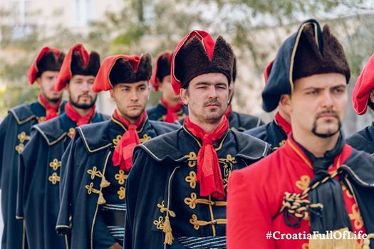 Croatian guards wearing traditional neckties