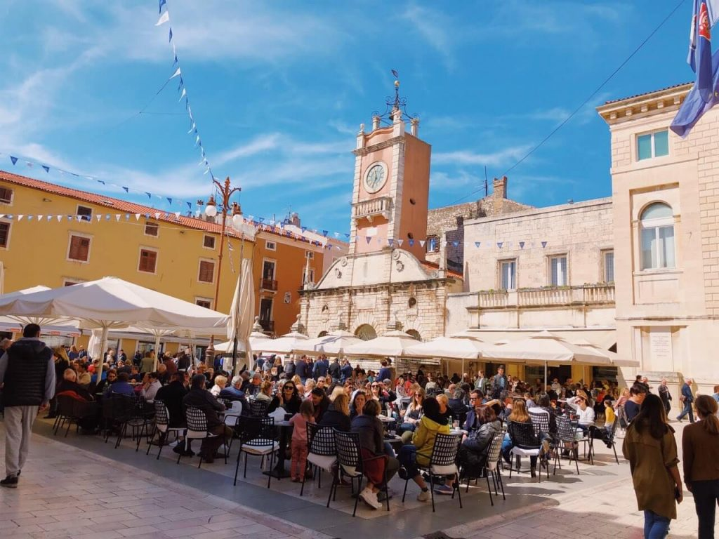 People's Square in Zadar