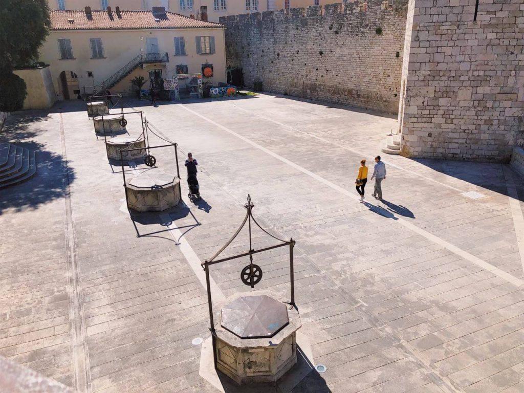 The Five Wells square in Zadar