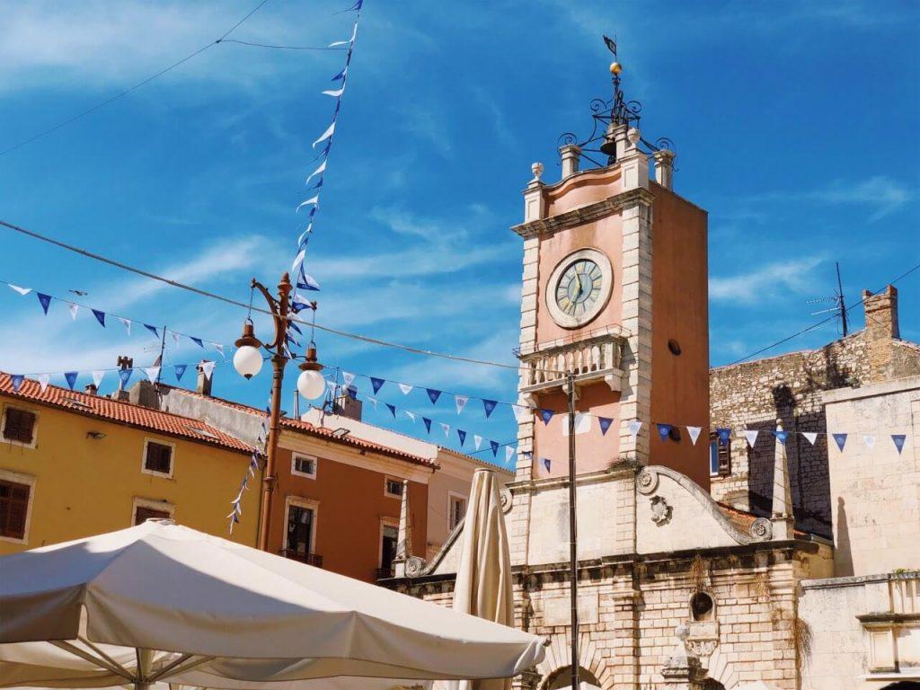 The City Guard clock tower in Zadar, Croatia