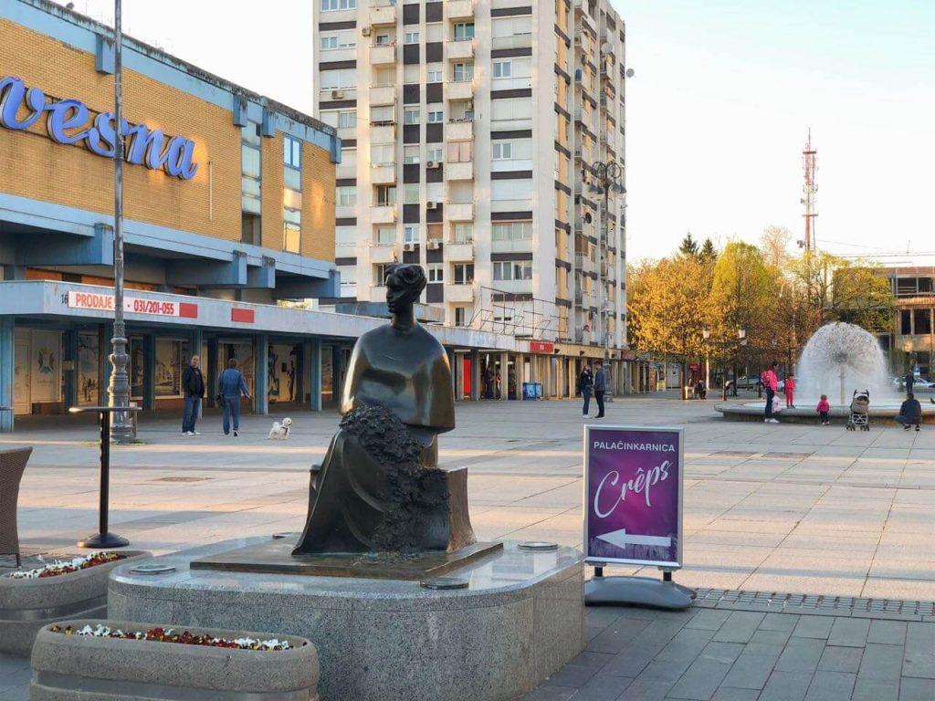 Monument of Ivana Brlić-Mažuranić in SLavonski Brod
