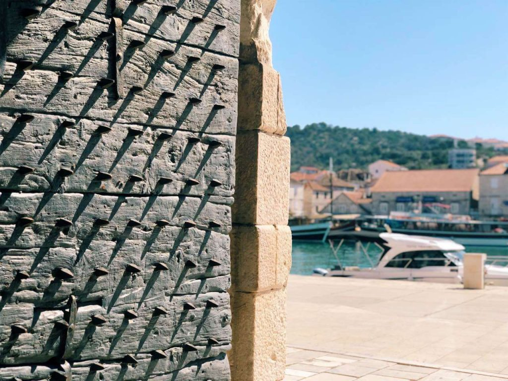 One of the gates protecting the old town of Trogir