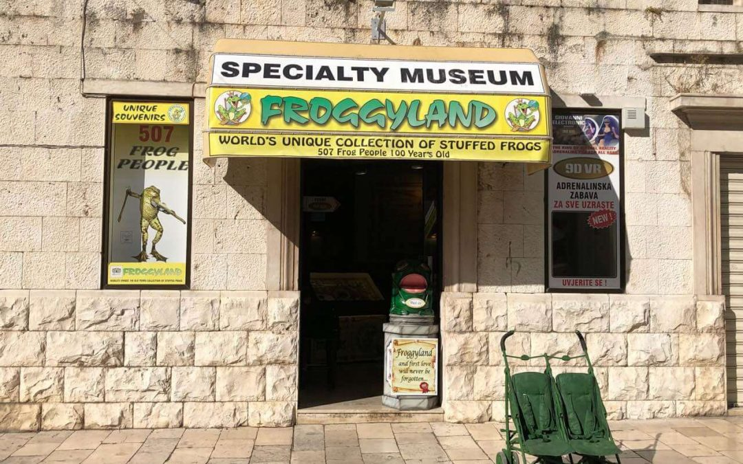 FroggyLand – museum of… frogs in Split, Croatia