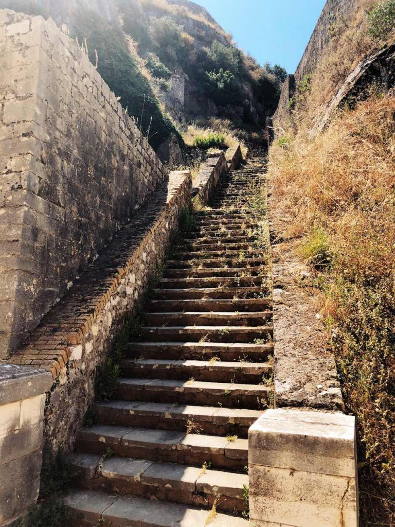 Stairs at the Old Venetian Fortress in Corfu