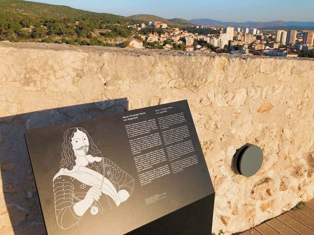 Info sign at Barone Fortress