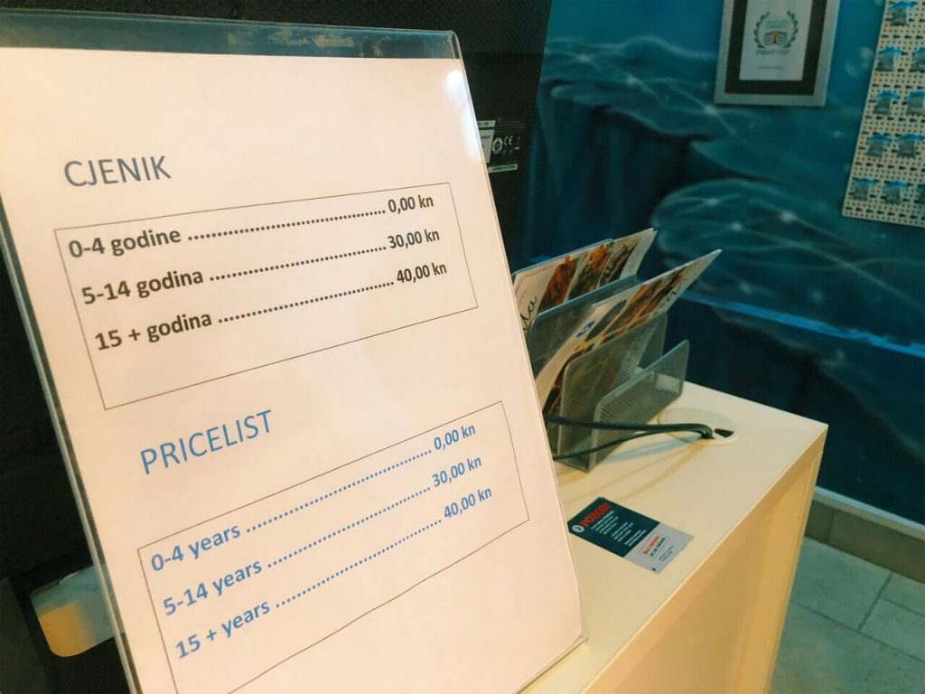 Aquarium price list 2019