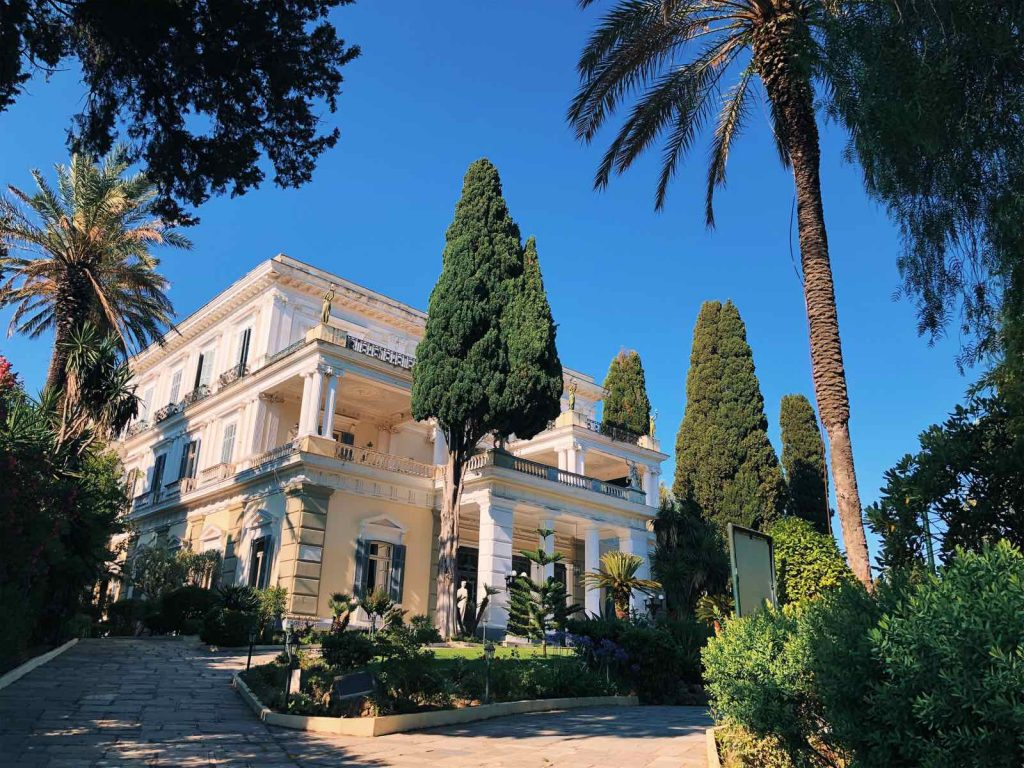 The Achilleion palace in Corfu
