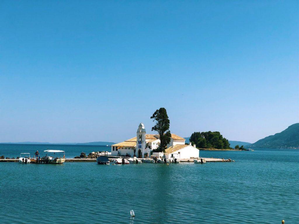 Vlacherna monastery in Corfu