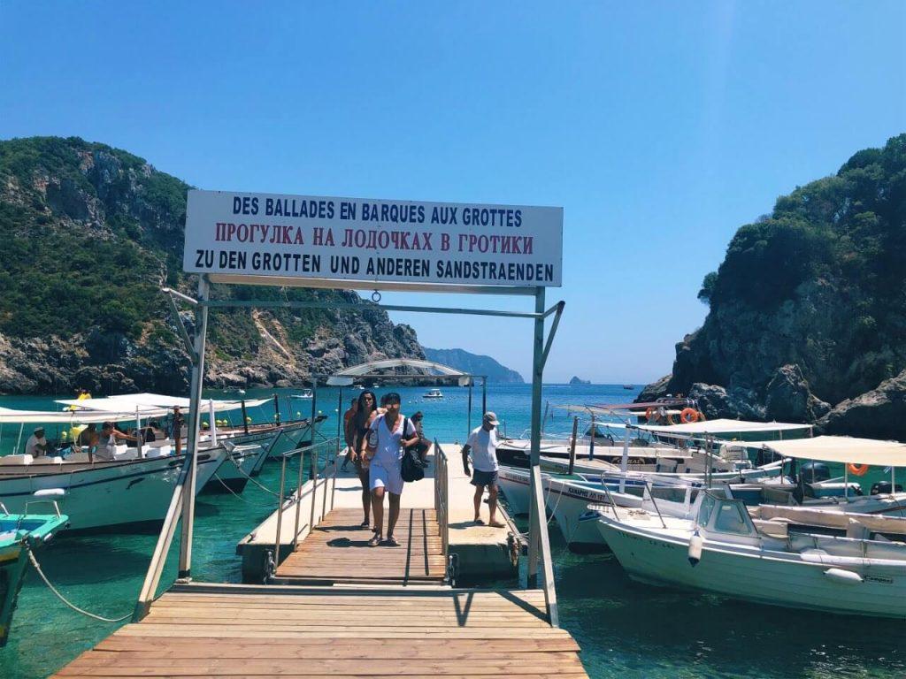 Boats in Paleokastritsa, Corfu