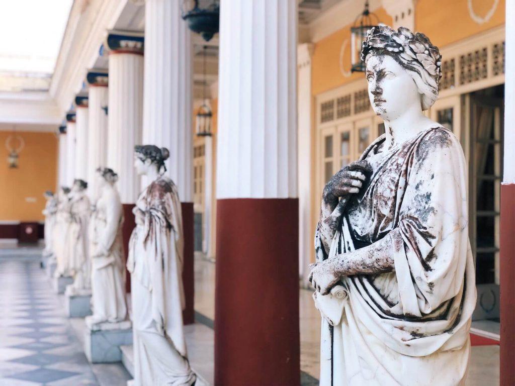 Statues in Achilleion