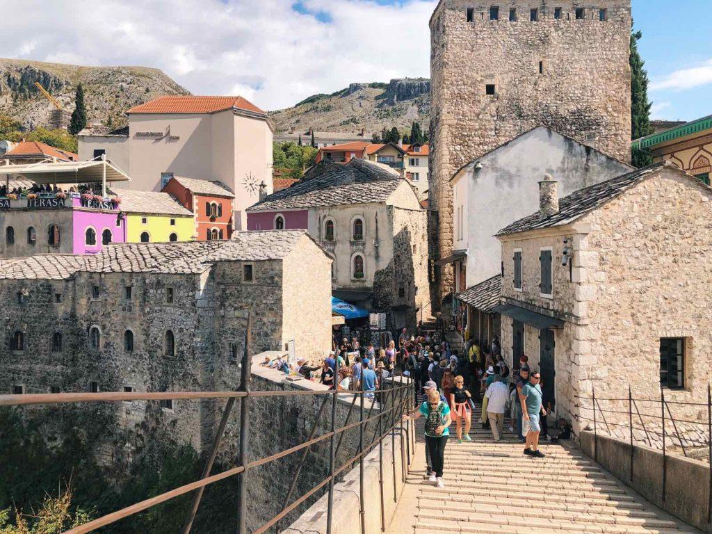 At the bridge in Mostar