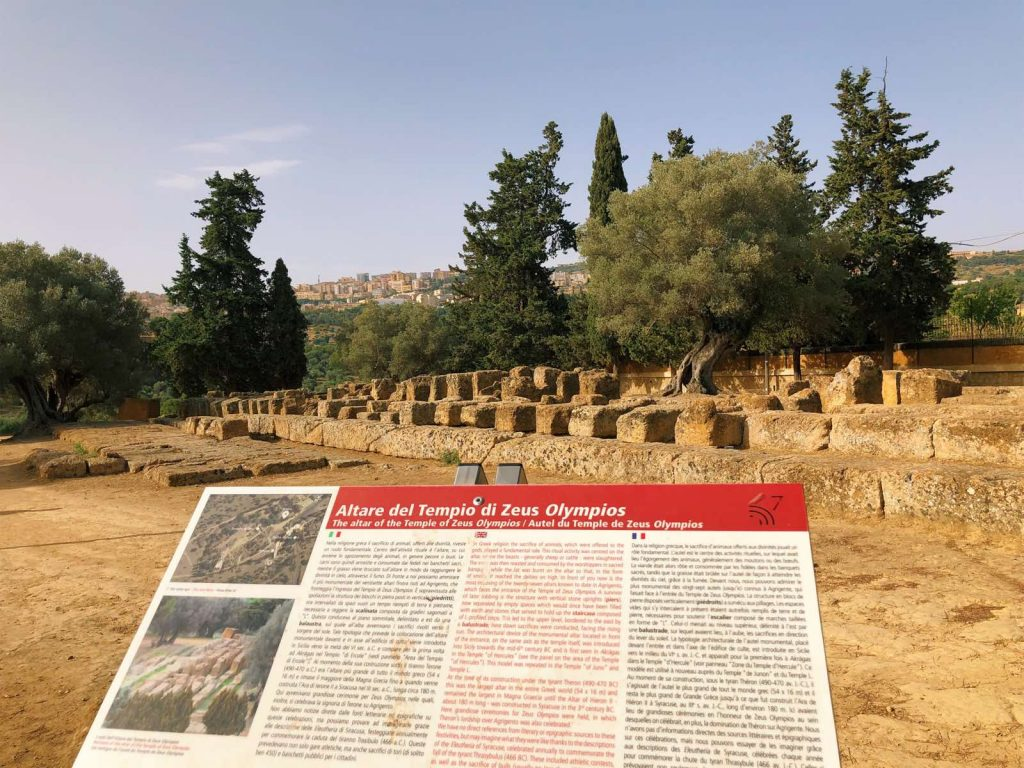 This is what is left of the Temple of Zeus today