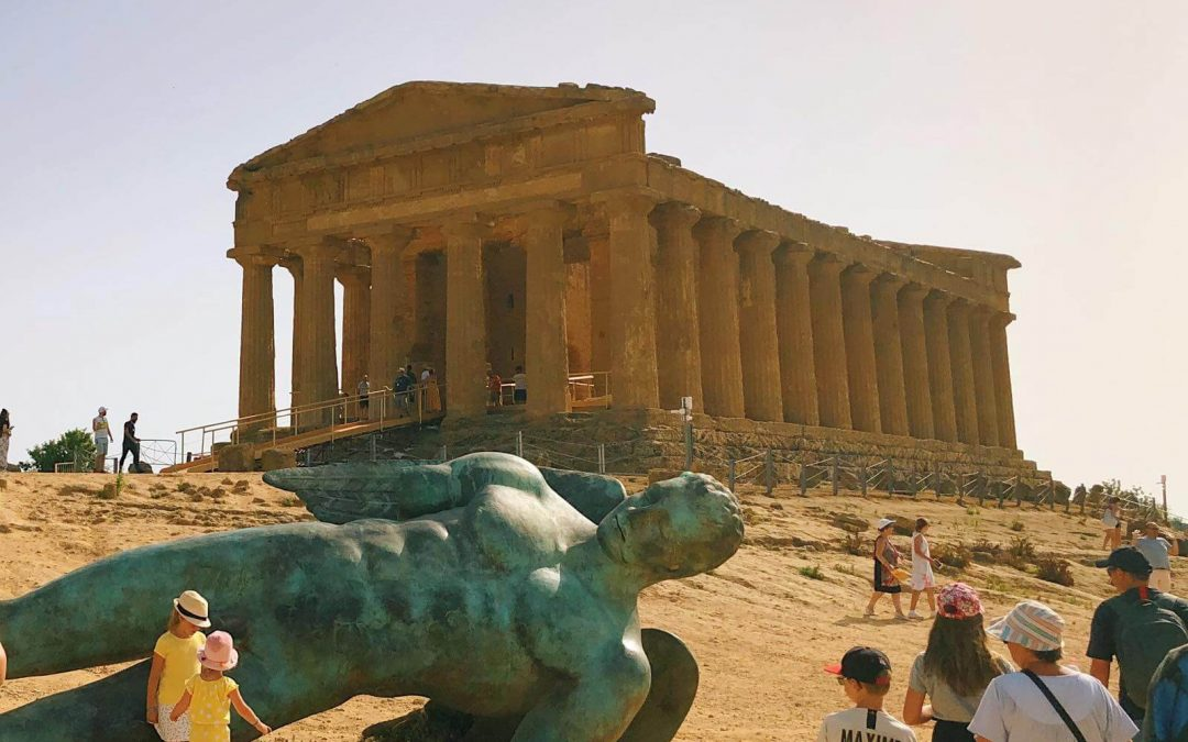 Visiting Valley of the Temples in Agrigento with children