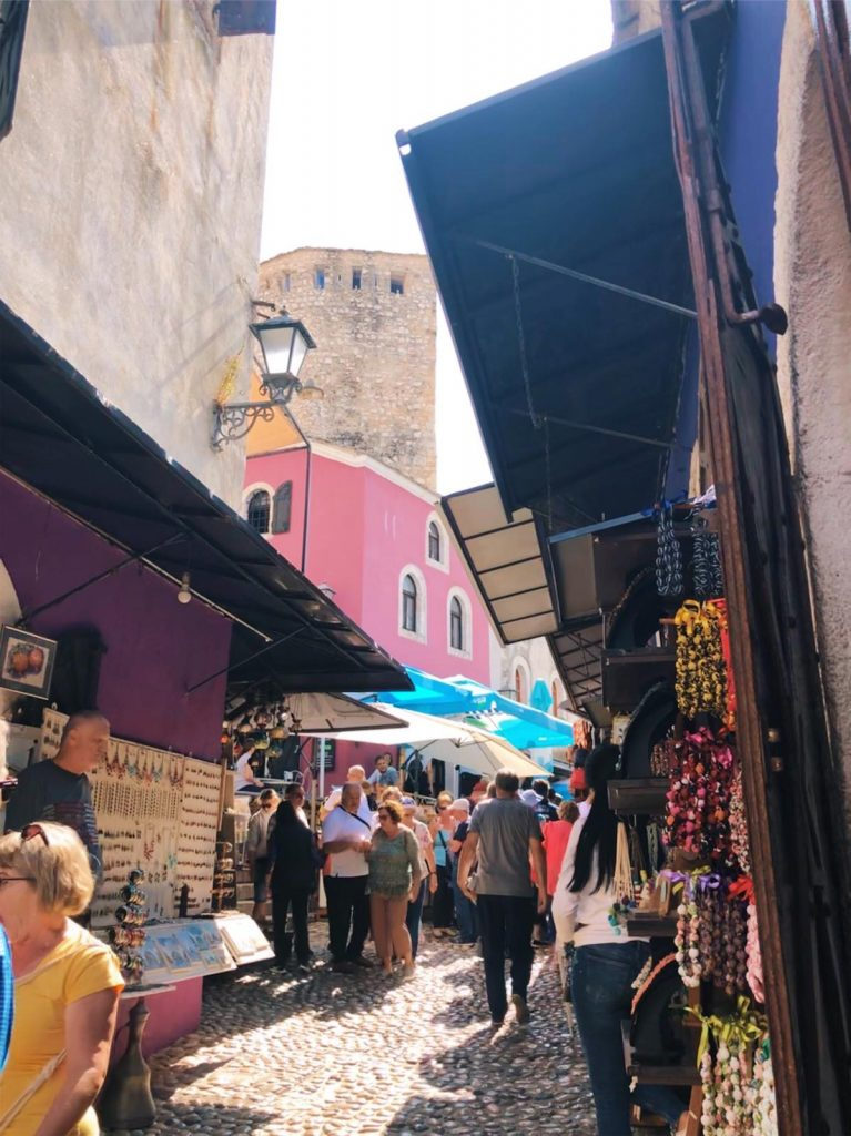 On the narrow streets of the old town