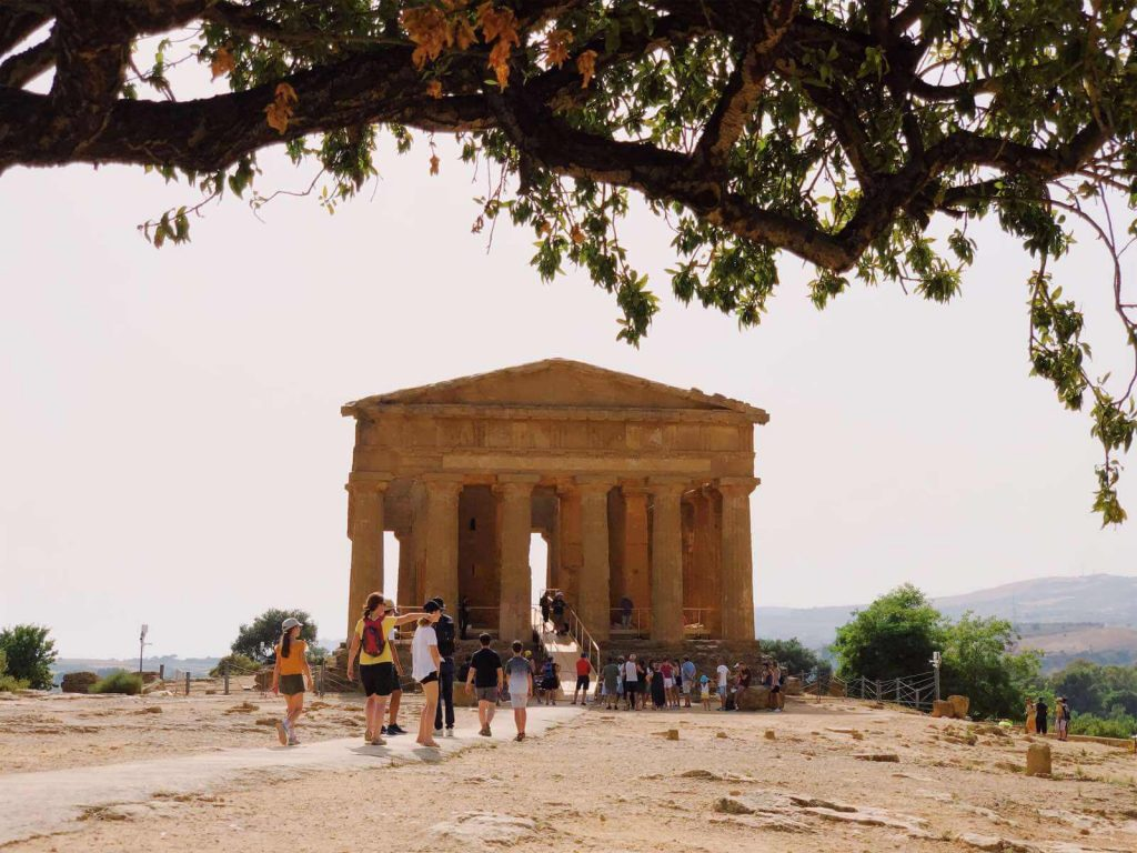 The Temple of Concordia is one of the largest and best-preserved Greek temples in the world