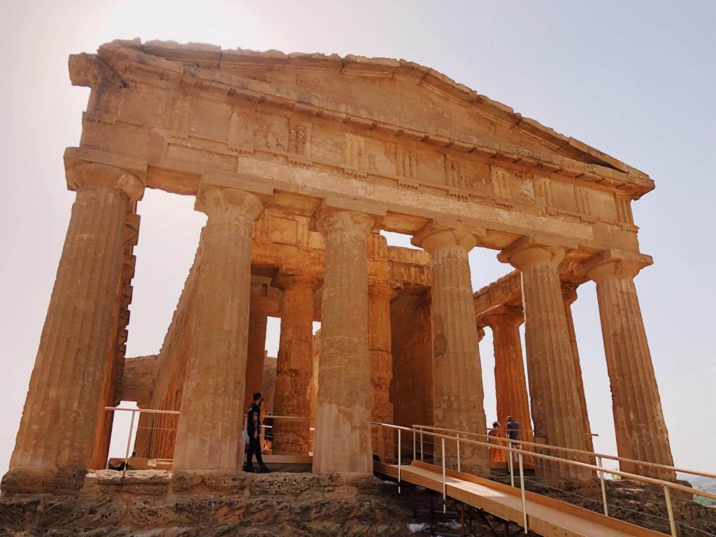 Very close pic of the Temple of Concordia - the most famous and impressive temple in the valley