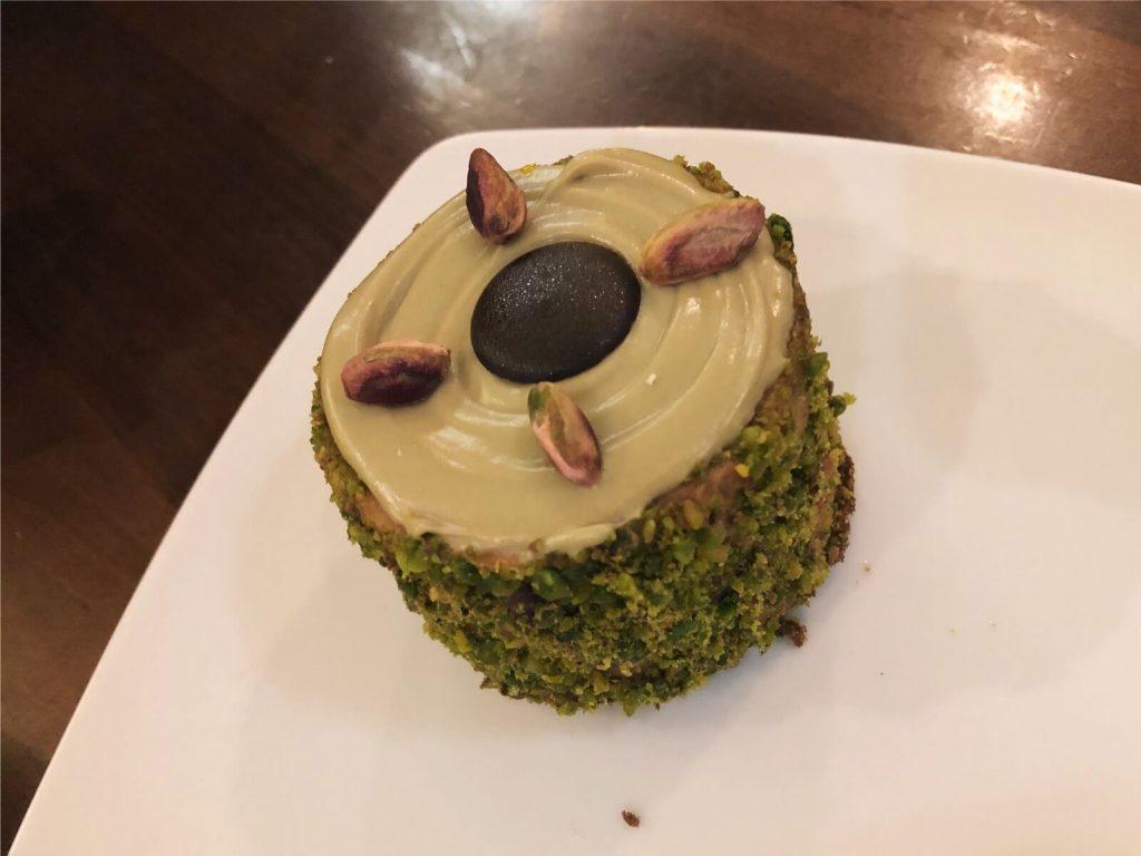 A lovely pistaccio cake in Sarajevo