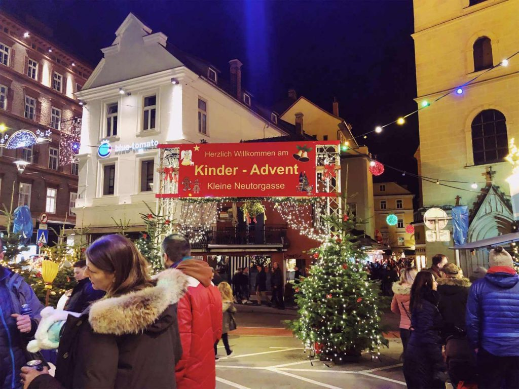 children's Christmas market in Graz