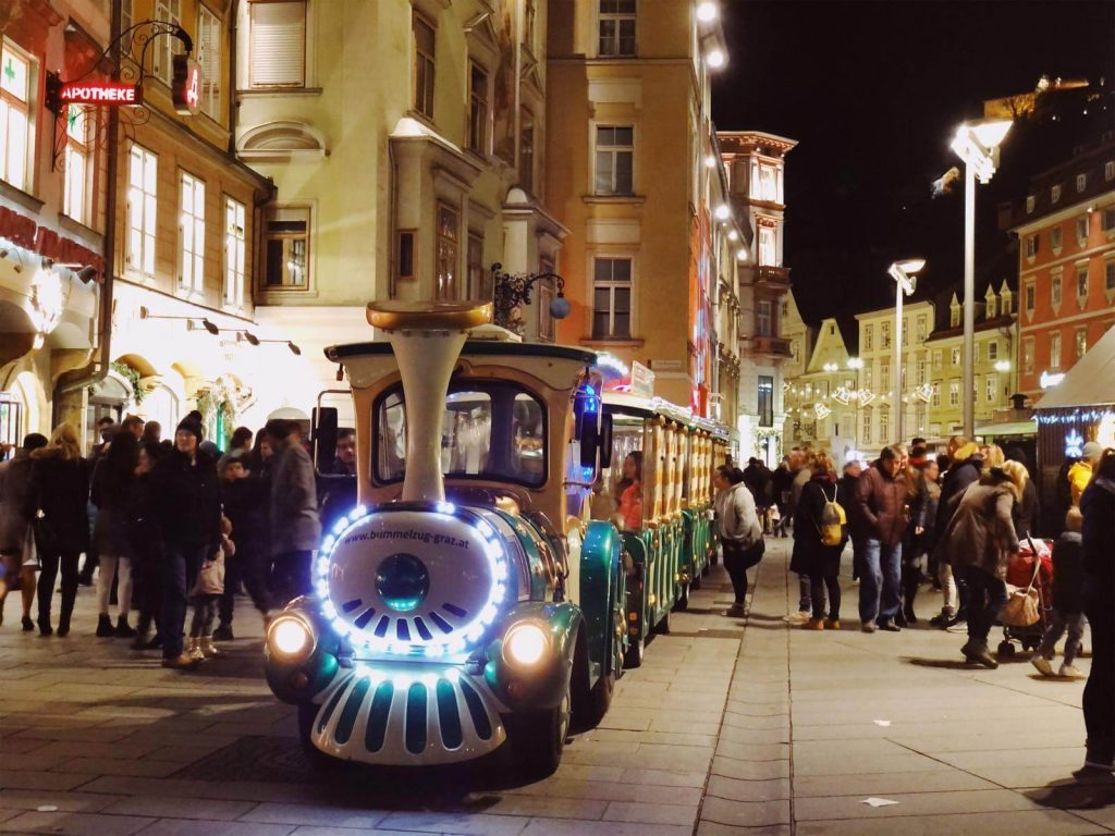 Christmas train in Graz