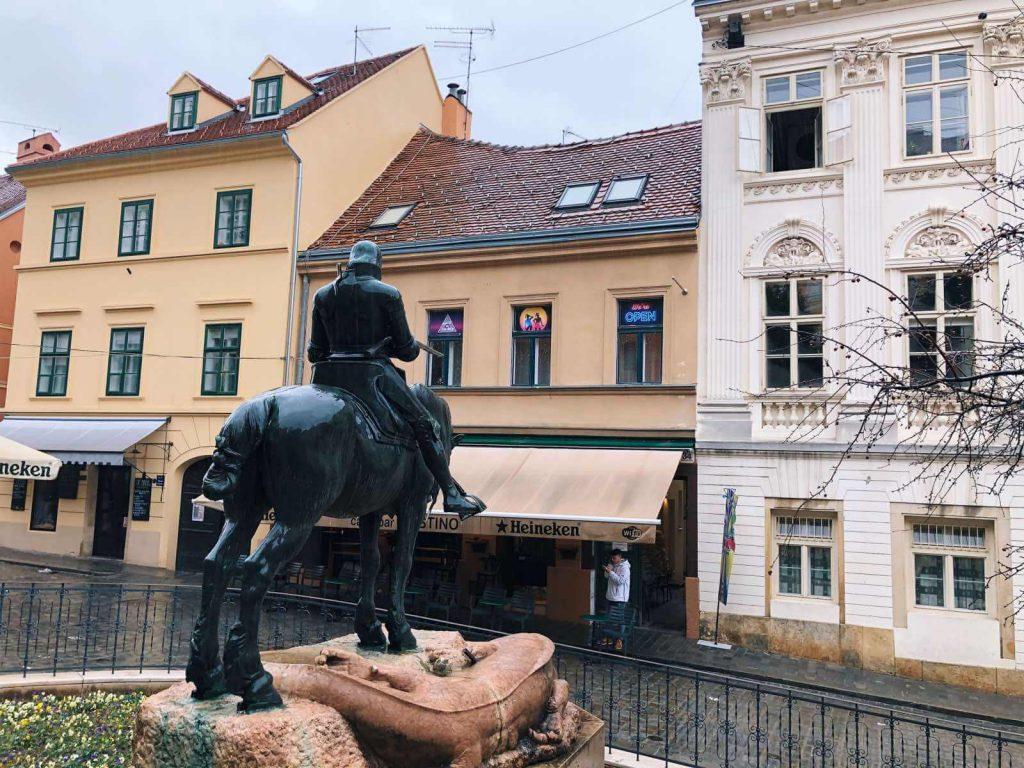 Rainy day in Zagreb