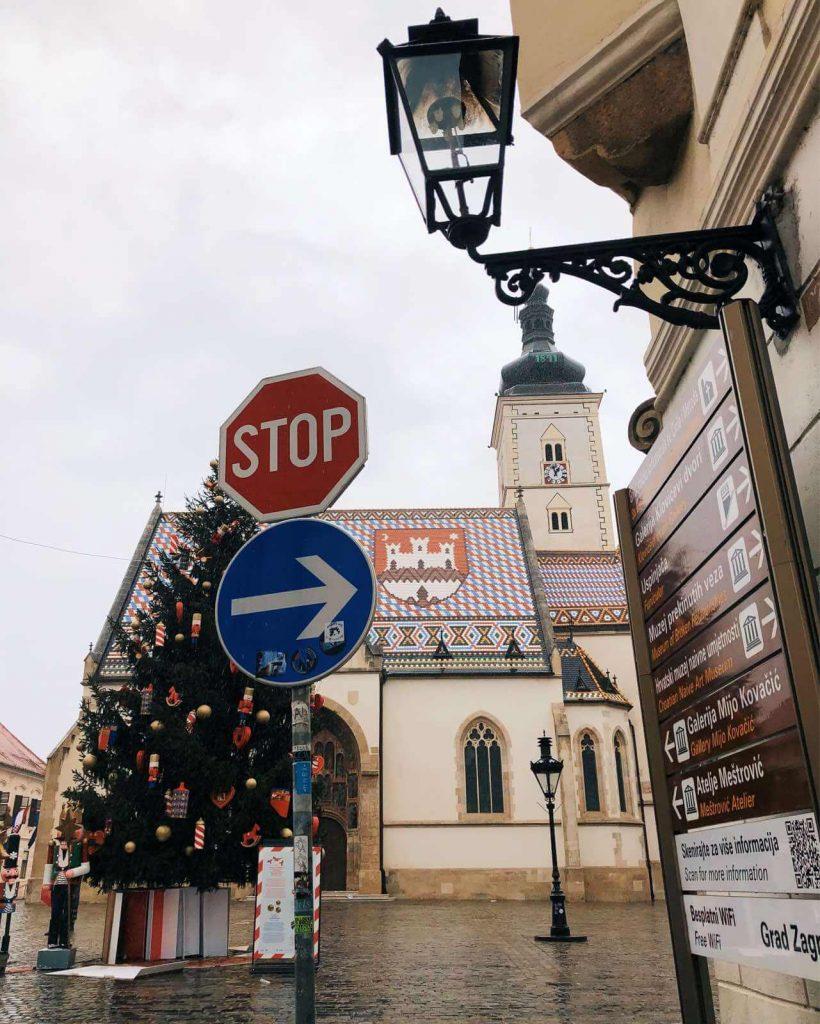 St. Mark's Church on a rainy day, Zagreb