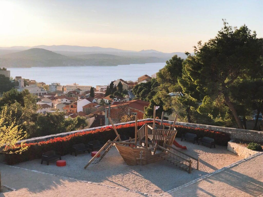 Playground at Barone Fortress in Sibenik
