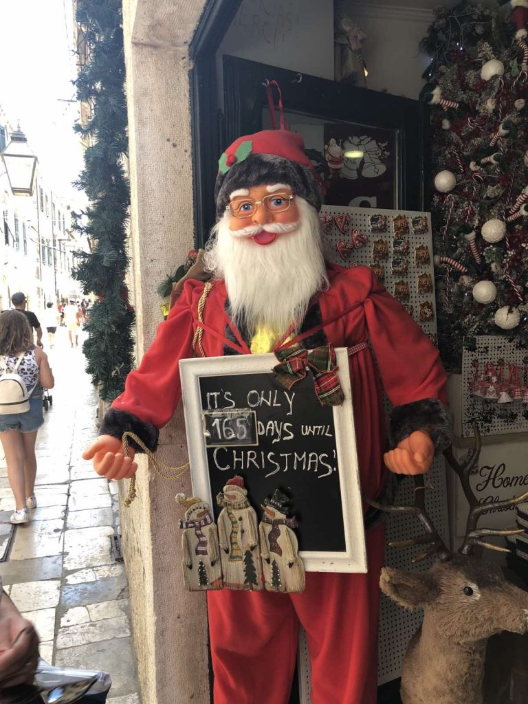 Santa Claus in Dubrovnik, Croatia
