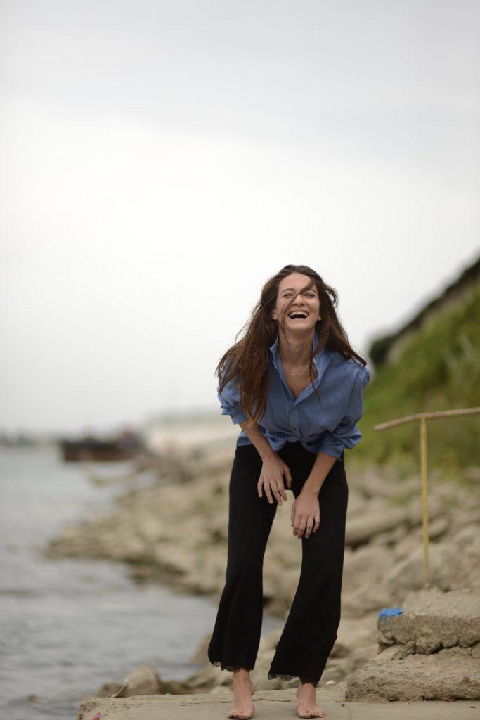 Happy Sara Renar in Bulgaria