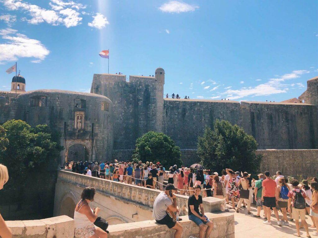 Crowded Dubrovnik