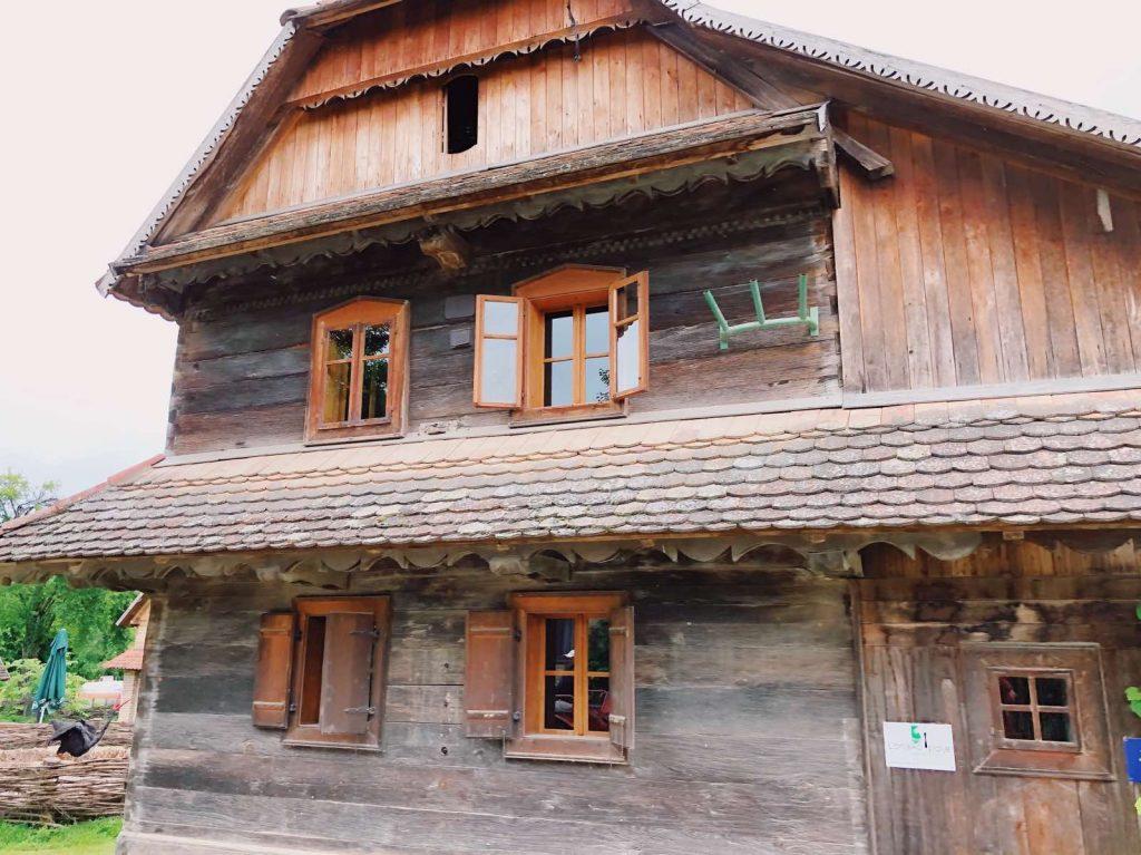 Wooden house somewhere around Lonja